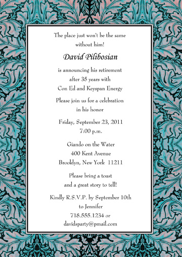 retirement party invitations, Wedding invitations