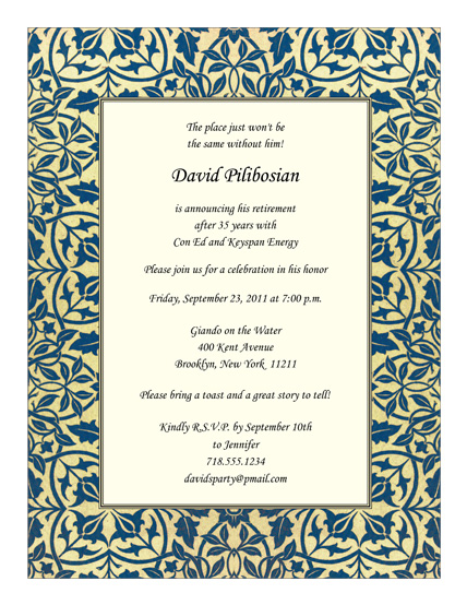 Retirement Party Invitation - RPIT-21