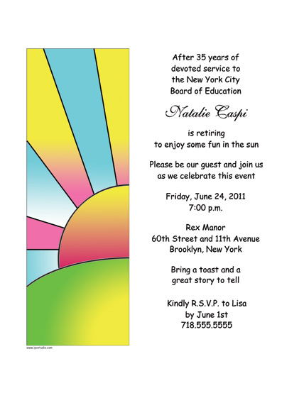 Party Invitation RPIT19 – Retirement Party Invitation Template
