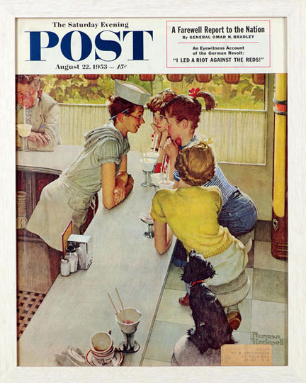 The Soda Jerk - Norman Rockwell