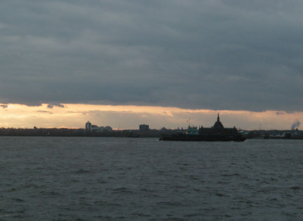 New York Bay at Dusk