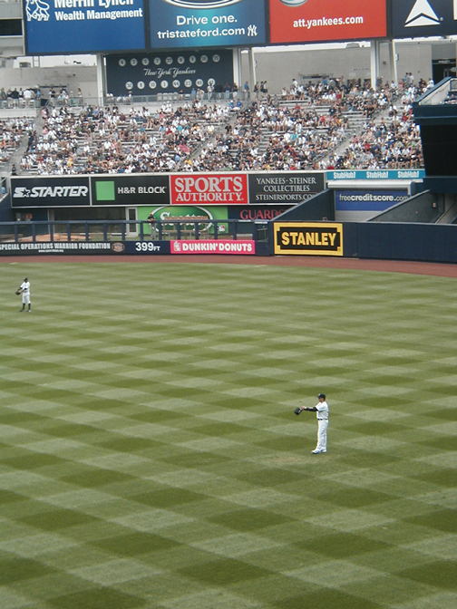 Swisher in the Outfield