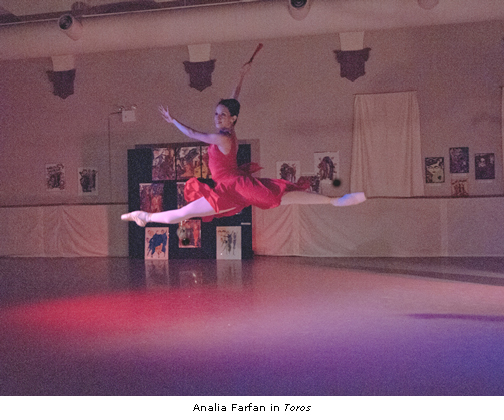 Analia Farfan in Richard Marsden's Toros - Photo by Arthur Coopchik