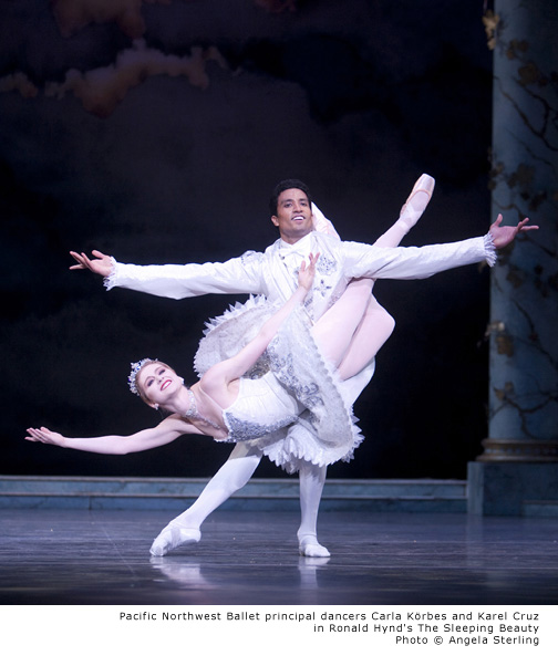 PNB - Carla Körbes and Karel Cruz - The Sleeping Beauty. Photo © Angela Sterling