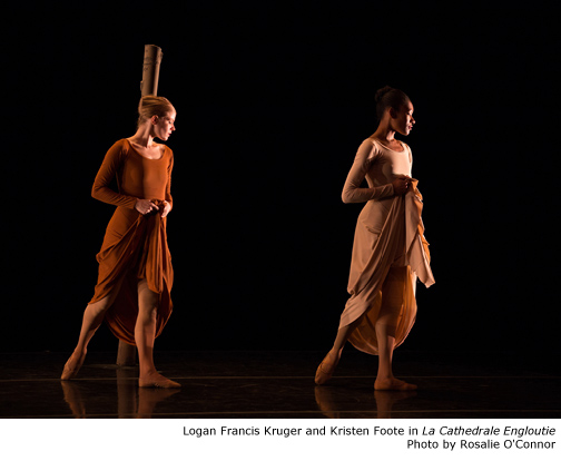 Logan Francis Kruger and Kristen Foote in La Cathedrale Engloutie. Photo by Rosalie O'Connor.
