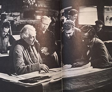 Hedrich-Blessing Photo - Frank Lloyd Wright and Apprentices at Taliesin