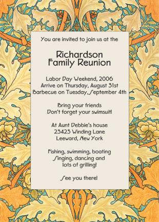 Family Reunion Invitation, Style wmfr-03