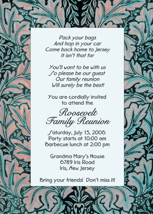 Family Gathering Invitations as great invitation sample