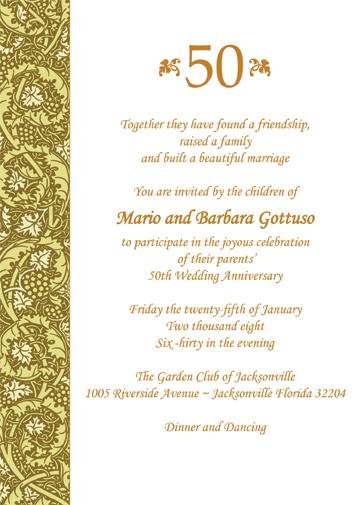 Anniversary Party Invitation, Style AP-011