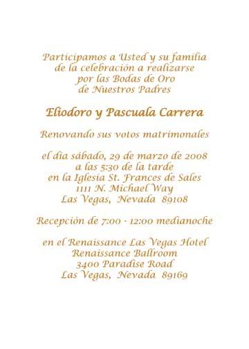 50th Wedding Anniversary Invitations Wording In Spanish Wedding