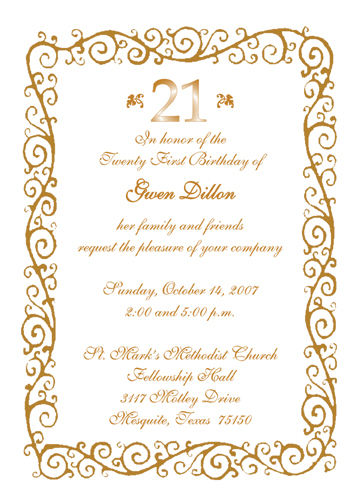21st Birthday Party Invitation