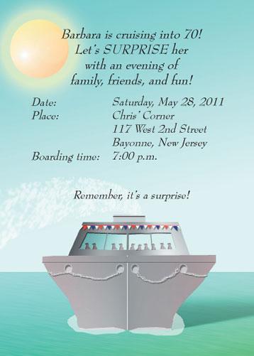 Cruise Invitation