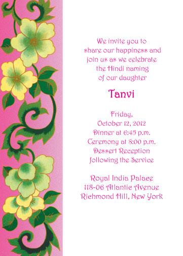 Namkaran Invitation Card Matter In Hindi | Infoinvitation.co
