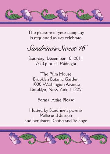 sweet sixteen invitation  style sw16