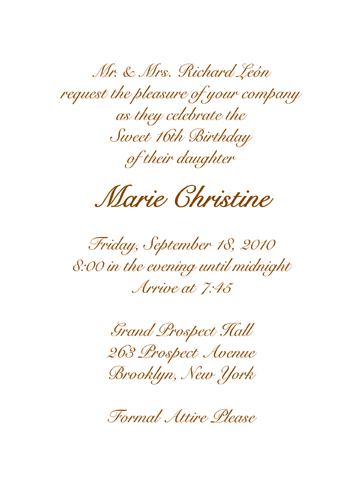 Golden Anniversary Invitations with adorable invitation example