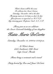 16Th Birthday Invite is adorable invitation design