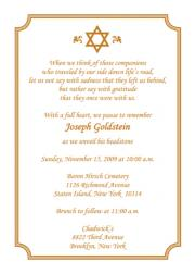 Unveiling ceremony invitation wording invitationjpg jewish unveiling ceremony invitations announcements stopboris Image collections